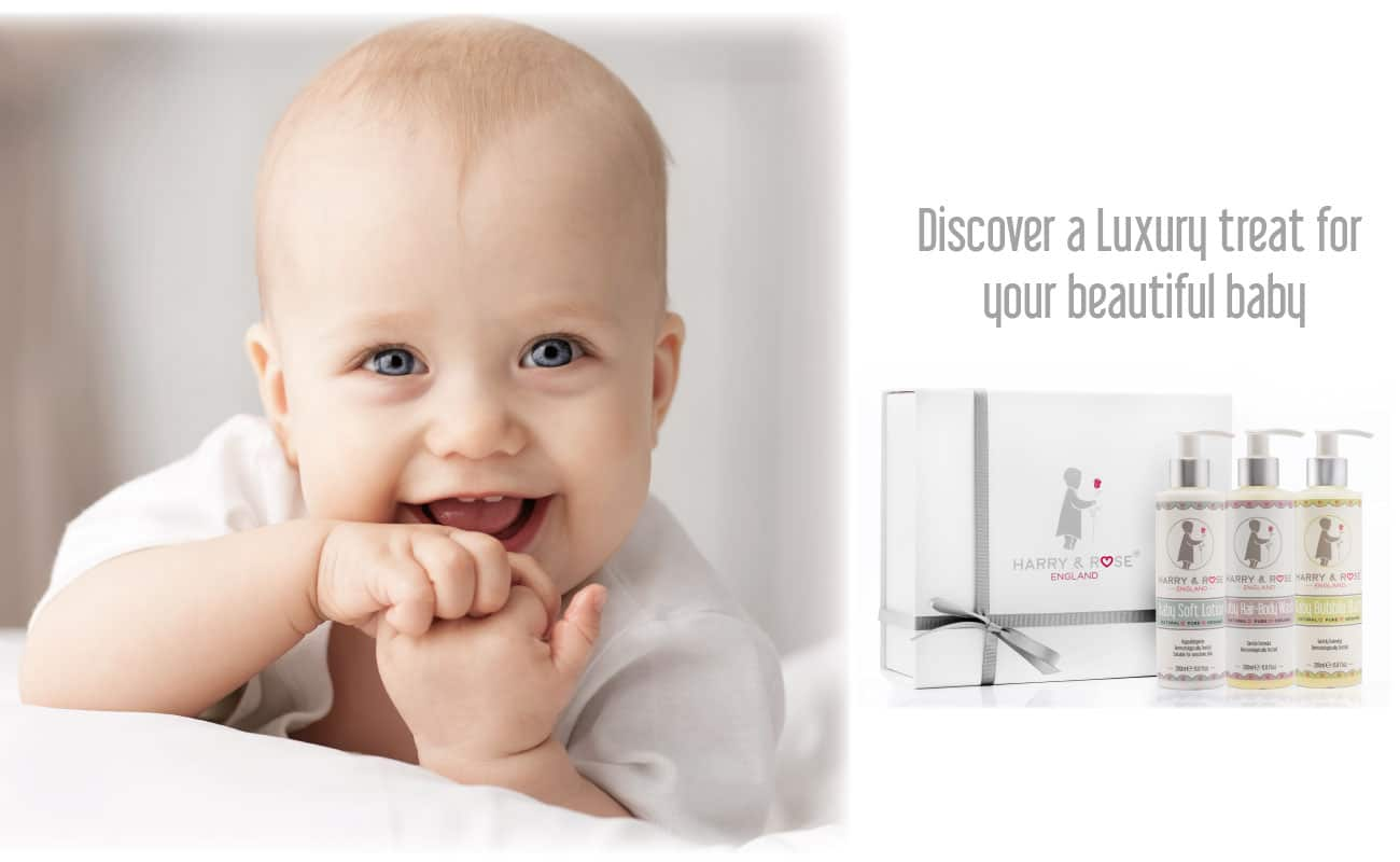 Harry & Rose luxury baby skincare products made with organic ingredients