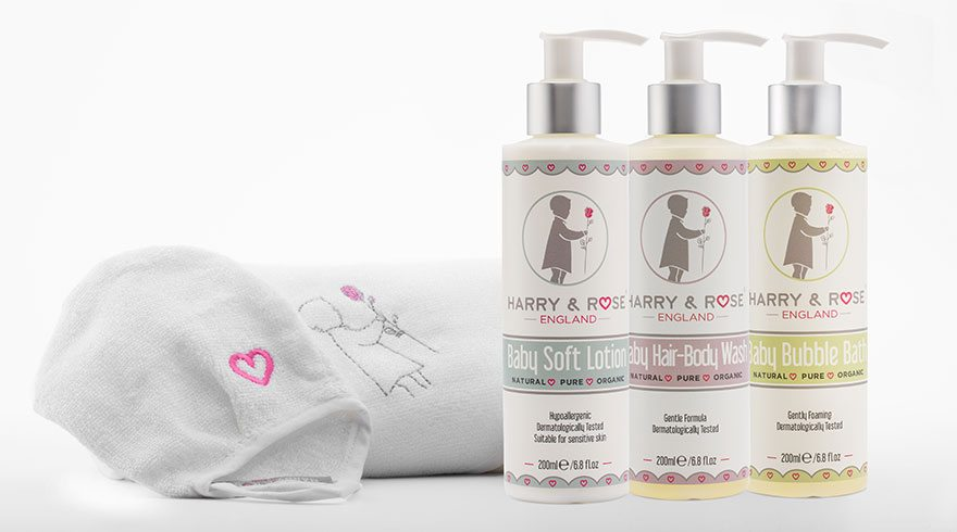 Harry & Rose Luxury Baby Skin care range